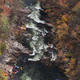 Peter McIntosh Photography - Tallulah Gorge with kayakers coming down the gorge for a whitewater release.