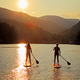 Kurtis Miller Photography - Paddle boarding on the lake.