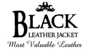Medium black leather jacket 20copy