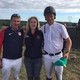 Two of the four members comprising the US Olympic Evening team Phillip Dutton and Boyd Martin were in high demand for photos at Plantation Field Here they pose with Yvette Dively of Oxford