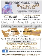 Gold Hill Ghost Tour - start Oct 29 2016 0500PM