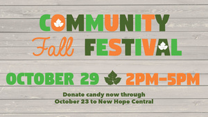 Community Fall Festival - start Oct 29 2016 0200PM