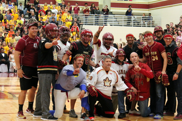 Maple Grove Senior High staff after the tug-o-war. (photo by Wendy Erlien)