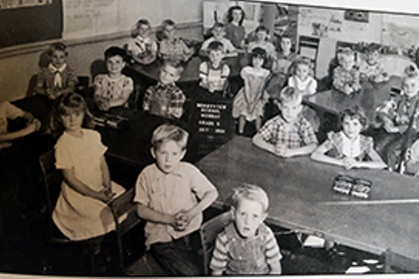 Barbara Andersen with her second grade class in 1950 at Bonnyview Elementary School.  Barbara Andersen/resident
