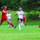 """Senior forward and team captain Katie Valdez battles through several Judge players on Sept. 9. The Spartans dominated the game 6-0. """"I think the group of players we have this year is one of the most talented groups that Murray Soccer has ever had,"""" Valdez said. """"If Murray is going to take the state title, the time is now. We couldn't be more ready."""" (Steve Christensen/Murray resident)"""