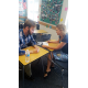 One of the 21 new Herriman High School teachers receives instruction from a mentor teacher. (Gina Walker/Herriman High School)