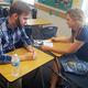 One of the 21 new Herriman High School teachers receives instruction from a mentor teacher. (Gina Walker/Herriman High School)