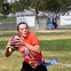 The Silverwolves girls are divided into eight colored teams for their homecoming powder puff tournament. (Dave Sanderson/dsandersonpics.com)
