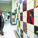 Bricks on the wall where Pat Eddington had AP students do an art piece. (Natalie Mollinet/City Journals)