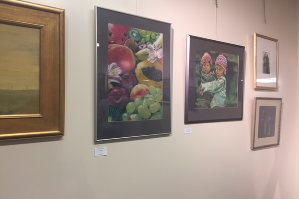 Art featured in the art gallery by Highland alumni. (Natalie Mollinet/City Journals)