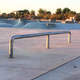 The slide rails and five deep pools at the new skate park are designed for beginners and experts to use. (Greg James/City Journals)