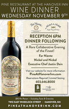 Wine Dinner  - start Nov 09 2016 0600PM