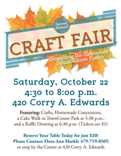 2nd Annual Craft Fair  - start Oct 22 2016 0430PM