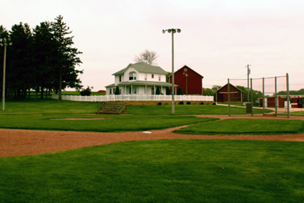 The baseball field from Field of Dreams in Iowa