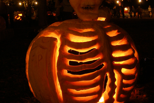 A skeleton at last year's Pumpkin Carve.