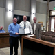 David Muir receives his Distinguished City's Comprehensive Annual Financial Report Award. (Cassandra Goff/ City Journals)