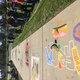 Elk Ridge Middle School students examine the chalk art talents of their classmates during the school's fall chalk art festival. (Julie Slama/City Journals)