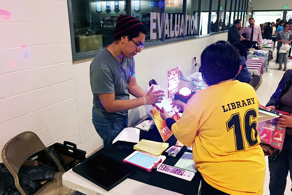 Granite School District hosted its third annual Latino Family Night on Oct. 6 at Hunter High School. Multiple booths were set up to go along with guest speakers as a way to provide informational resources for families. (Granite School District)