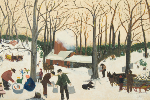 'Bringing in the Maple Sugar' (1938), by Grandma Moses.