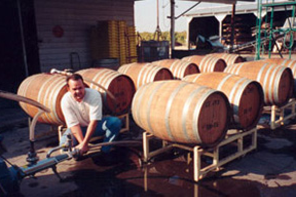 Owner/winemaker Bret Engelman is very hands on in the winery