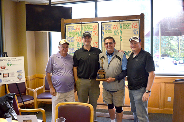 5. First place team: Frankie Haddick, Jeff Wood, Ken Christensen and Peter Fordham