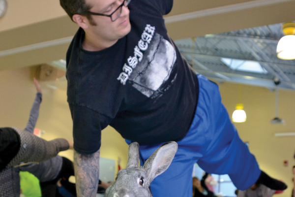 Bunny Yoga at Animal Friends
