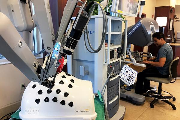 The Da Vinci robot provides a more accurate and precise laparoscopic surgery. (Kelly Cannon/City Journals)