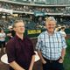 Jeff Hinton and Ron Saltmarsh of Joshua Creek get ready to sing the national anthem at a Salt Lake Bees game. The band will be playing on Dec. 16 and 17 at the Midvale Performing Arts Center. (Courtesy Joshua Creek)