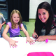 One activity students purchased with their school tickets they earned was fingernail painting. (Missy Hamilton/Viewmont Elementary)