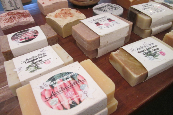 Handmade soaps in a variety of tempting scents.