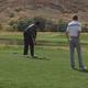 Bingham junior golfer Ethan Fowlks squares up a put at the state tournament (Kristen Fowlks/Resident)