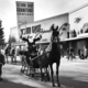 In 1952 Santa arrived at the Santa Shack in a horse drawn sleigh in front of South East Furniture. Since then Santa has always arrived in style. (Laurie Bray/Sugar House photographer)