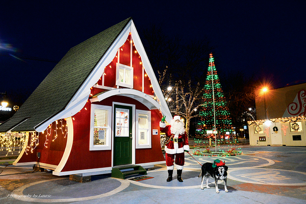 Families and their pets can come see the Santa Shack through December. (Laurie Bray/Sugar House photographer)
