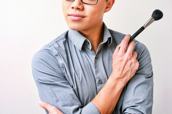 Andy Truong, getting ready to work his makeup magic. (Huy Tran/H. Tran Photography)