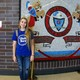 Granger High senior Courtney Zamora wore blue on Nov. 14 to honor West Valley City Police Officer Cody Brotherson. A graduate of Granger, Brotherson was interred on Nov. 14. (Travis Barton/City Journals)