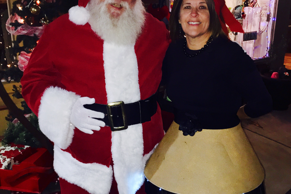 Lisa Drake at the 2015 Ugly Sweater Contest in Downtown Mansfield!