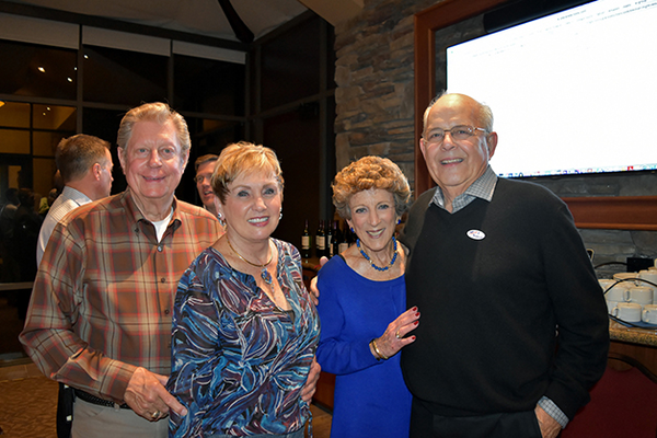 Dan and Carol Larsen with Lois and Peter Gilbert