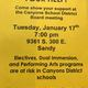 The art advocacy group calls for parents to attend the next school board meeting. (CSD Schedule Changes Facebook)