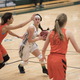 Senior Madisen Gladstone drives against the Spartan defense on Jan. 10. Despite missing time with a concussion, Gladstone averaged 12 points a game through 14 games. (Ellis Hunsaker)