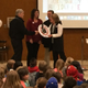 "Utah Clean Cities' Tammie Bostick Cooper presented Superintendent Jim Briscoe and board of education members with the ""Turn the Key, Be Idle Free"" award. (Julie Slama/City Journals)"