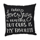 'Every Love Story Is Beautiful' Pillow, $28 at Three Bridges Gift Boutique, 303 Riley Street, Folsom. 916-806-0510, threebridgesgifts.com