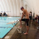 A Jordan swimmer gets set to dive in. (Mariah Foerster/Resident)