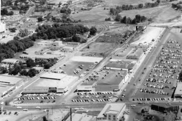 This is a look at what The Sugar House Center looked like in 1955. A lot of things have changed since then. (Used By Permission/Utah State Historical Society.)