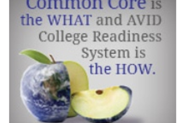 "AVID Program claims to be the ""most appropriate partner"" to Common Core concepts. (avid.org)"