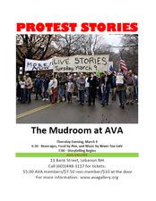 Medium protest stories poster