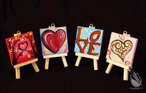 Valentines Day MINI Canvas set Ages 15 - start Feb 12 2017 0200PM