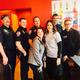 Tony Kirkham and friend Mindy Ruff with members of the South Jordan Fire Department (Toni Kirkham)