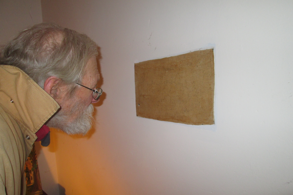 Matsen found the signature of Amos Kimble underneath the wallpaper of an upstairs bedroom.