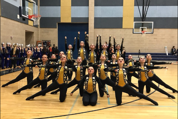 The Juan Diego drill team took won their region championship for the first time in the history of the school. (Meaghan Williams/Juan Diego Drill)