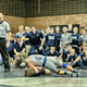 The Corner Canyon wrestling team cheers on one of their teammates during a match. (Jeff Eure/Corner Canyon Wrestling)